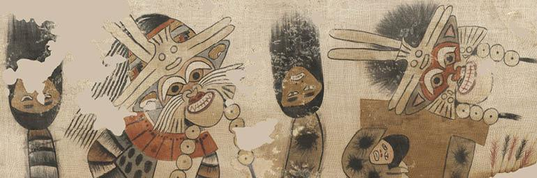 Lower Portion of a Mantle with Procession of Figures (detail), 1940.530