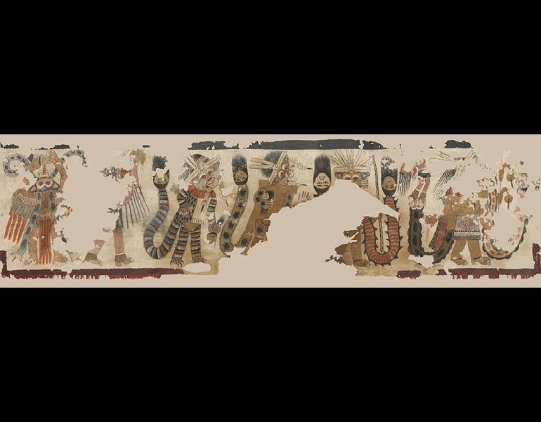 Lower Portion of a Mantle with Procession of Figures, 1940.530