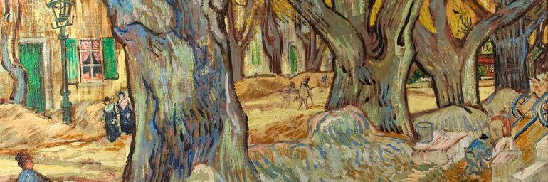 The Large Plane Trees (detail), November–December 1889. Vincent van Gogh (Dutch, 1853–1890). Oil on canvas; 73.4 x 91.8 cm. The Cleveland Museum of Art, Gift of the Hanna Fund 1947.209