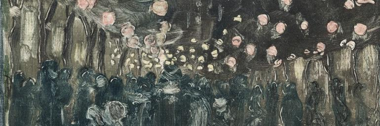 Bastille Day (detail), 1892. Maurice Prendergast (American, 1858–1924). Monotype; 30.5 x 24.8 cm. The Cleveland Museum of Art, Gift of the Print Club of Cleveland 1954.337.