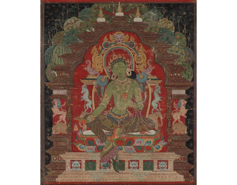 Green Tara, c. 1260s. Tibet. The Cleveland Museum of Art, 1970.156