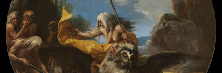 Scene with Witches: Day (detail), 1645–1649. Salvator Rosa (Italian, 1615-1673). Oil on canvas; w: 54.5 cm. Purchase from the J. H. Wade Fund 1977.37.2