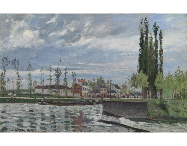 The Lock at Pontoise, 1872. Camille Pissarro. The Cleveland Museum of Art, 1990.7