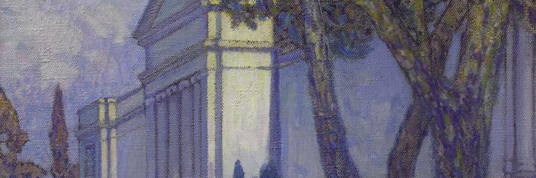 View of The Cleveland Museum of Art (detail), 1916. Frederick Gottwald (American, 1860-1941). Oil on canvas; 61 x 50.8 cm. The Cleveland Museum of Art, Bequest of Virginia Hubbell 1997.310