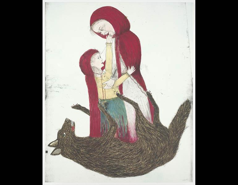 Born, 2002. Kiki Smith (American, b. 1954). Color lithograph; 172.9 x 142.5 cm. The Cleveland Museum of Art, Gift of Agnes Gund and Daniel Shapiro 2004.34.