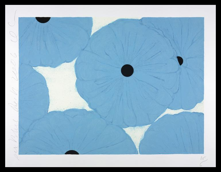 Six Blues, Dec 12, 2006, 2006. Donald Sultan (American, b. 1951). Screenprint and collage; 76.5 x 97.5 cm. The Cleveland Museum of Art, Gift of Deborah and Kenneth Cohen in memory of Mary B. Gorman 2007.273. © 2015 Donald Sultan / Artists Rights Society (