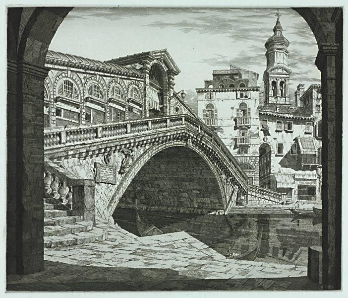 Shadows of Venice, 1930. John Taylor Arms (American, 1887–1953). Etching and aquatint; 26.2 x 30.9 cm. Gift of Jenny Horning in honor of Caedon Suzanne Summers 2009.191