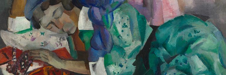 Sleeping Gypsy (detail), c. 1909–12. Robert Rafailovich Falk (Russian, 1886–1958). Oil on canvas; 99.1 x 121.9 cm. Bequest of Dr. Paul J. Vignos Jr.  2011.72.