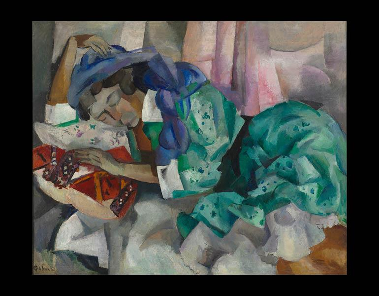 Sleeping Gypsy, c. 1909–12. Robert Rafailovich Falk (Russian, 1886–1958). Oil on canvas; 99.1 x 121.9 cm. Bequest of Dr. Paul J. Vignos Jr.  2011.72.