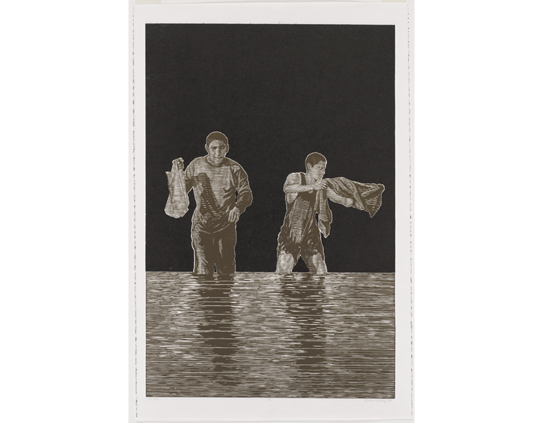 Brothers Collecting Shells, 2013. Fidencio Fifield-Perez (Mexican, b. 1990). 2015.38