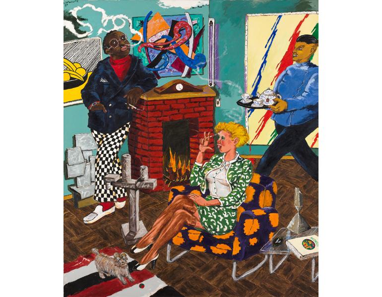 Tea for Two (The Collector), 1980. Robert Colescott. 2017.128