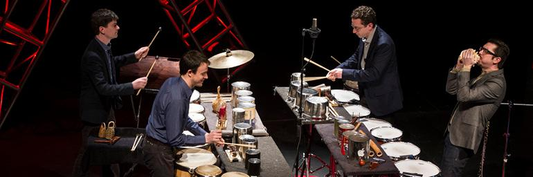 Third Coast Percussion. Photo Credit: Barbara Johnson, University Photographer. Copyright University of Notre Dame