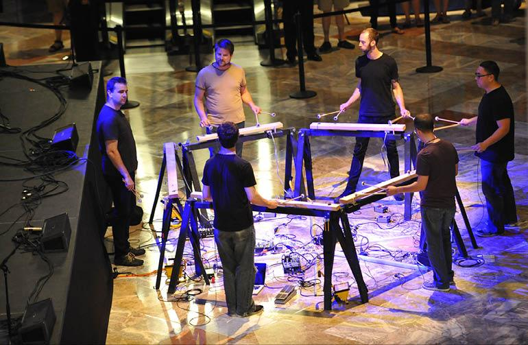 Mantra Percussion. Photo by Stephanie Berger