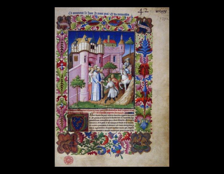 Polo, Marco,1254-1323?. Das Buch der Wunder = Le livre des merveilles / Marco Polo. Luzer: Faksimile Verlag, 1995-1996. [ISBN 3856720510]. Rare Book. G370.P9 P6714 1995. IML 986571