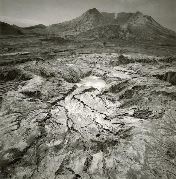 Debris flow at the northern base of Mount St. Helens, looking south, Washington, 1983. Emmet Gowin (American, born 1941). Gelatin silver print; 11 x 14 in. © Emmet and Edith Gowin; courtesy Pace/MacGill Gallery, New York