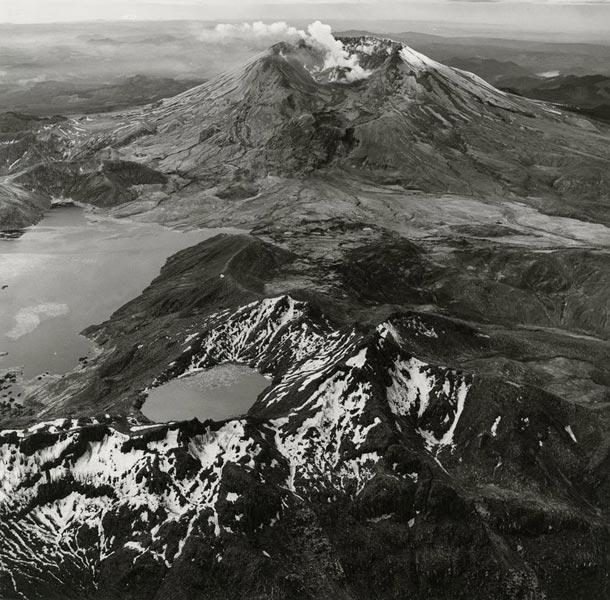 Spirit Lake and Mount St. Helens,Washington, 1983. Emmet Gowin (American, born 1941). Gelatin silver print; 11 x 14 in. © Emmet and Edith Gowin; courtesy Pace/MacGill Gallery, New York