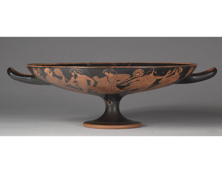 Red-Figure Kylix (Drinking Cup), c. 480 BC. Attributed to Douris. CMA 508.1915