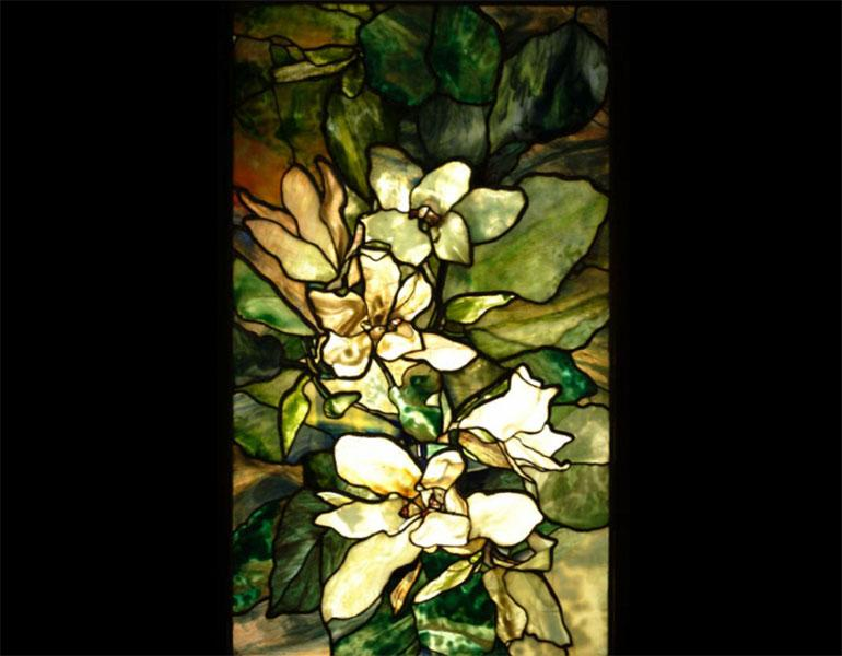 Magnolia Window, 1900. Tiffany Studios (American, 1900–1932), Agnes Northrop (American, 1857–1953) designer. Stained glass. The State Hermitage Museum