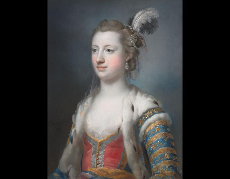 The Right Honorable Lady Mary Radcliffe (1732–1798), Wife of Francis Eyre, Esq., 1755. Francis Cotes (British, 1726–1770). Pastel; 60.7 × 45.7 cm. The Cleveland Museum of Art, Gift of Edward B. Greene 1946.463