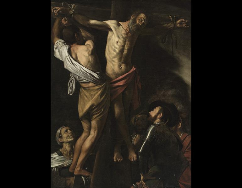 The Crucifixion of Saint Andrew, 1606–7. Michelangelo Merisi da Caravaggio (Italian, 1573–1610). Oil on canvas; 202.5 x 152.7 cm.  Leonard C. Hanna Jr. Fund 1976.2
