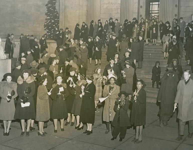 Christmas procession ca. 1950