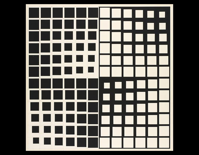 Untitled, 1967–68. Ernest Benkert (American, 1928–2010). Black paint with graphite; 62 x 57.3 cm. The Cleveland Museum of Art, Gift of Helen A. Weinberg in memory of her husband Kenneth G. Weinberg 2000.47. Copyright Ernest Benkert