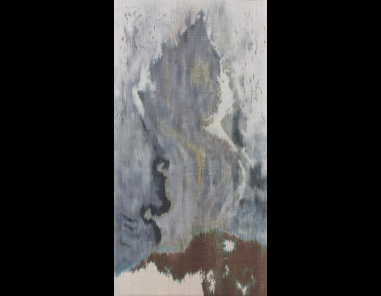Sand Storm, 2005. Hildur Ásgeirsdóttir Jónsson (American, born Iceland, 1963). Warp-faced plain weave; painted with dye before weaving; silk; 198 x 104 cm. Robert A. Mann Fund 2005.146 © Hildur Ásgeirsdóttir Jónsson