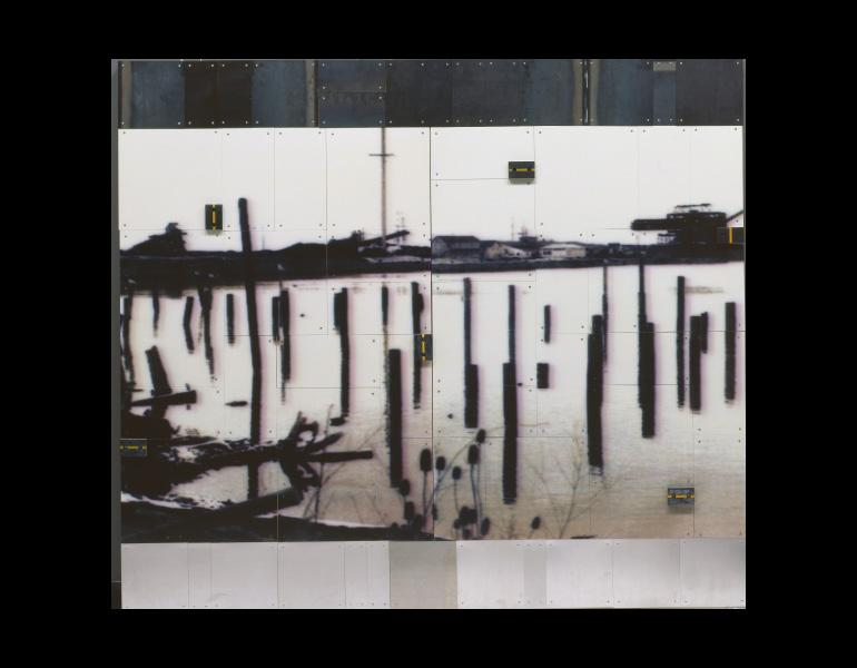 Bad Water, 1991. Donald Harvey (American, b. 1941). Photograph on aluminum; steel and rubber; 188.7 x 214.1 x 6.9 cm. Gift of Mr. and Mrs. Richard A. Zellner 1998.118.a–b © Donald Harvey
