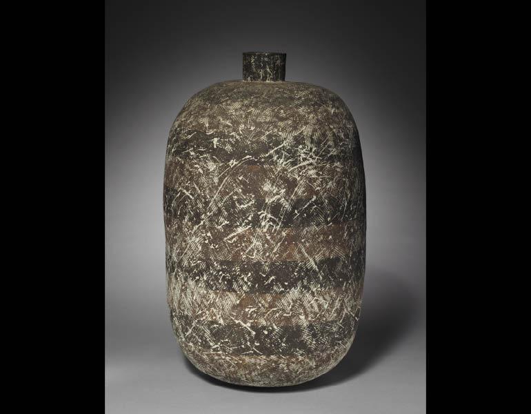 Vase, 1979. Claude Conover (American, 1907–1994). Stoneware; 52 x 26 cm. Given in memory of Allan Joseph MacDonald 2009.379 © Claude Conover
