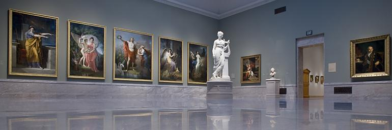 The stunning Cutler Gallery in the museum's historic 1916 Building presents neoclassical paintings and sculpture