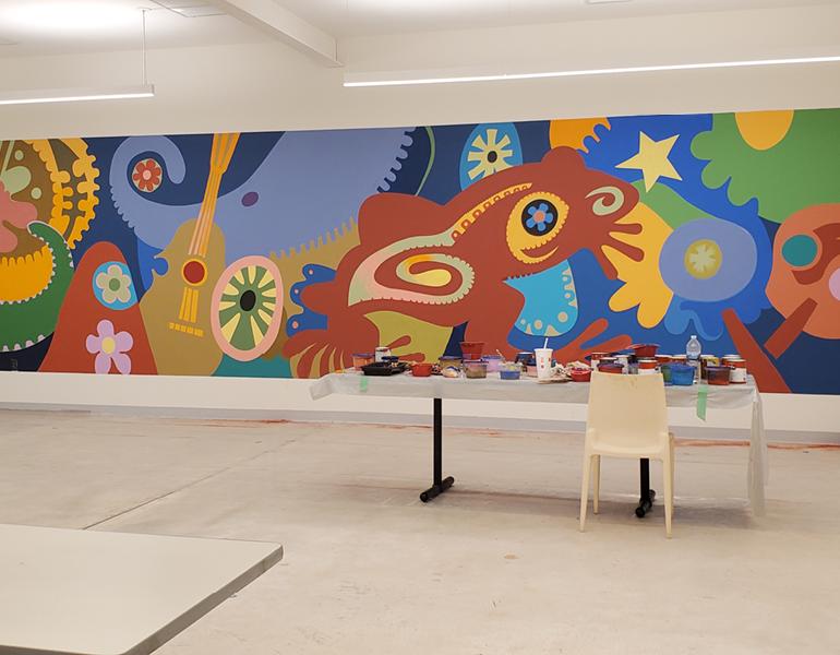 Mural at the CMA Community Arts Center