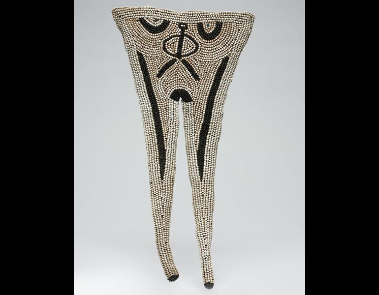 Apron, 1800s–1900s. South Africa, Southern Nguni people. Leather, glass beads, sinew; h. 35.6 cm. The Cleveland Museum of Art, Leonard C. Hanna Jr. Fund 2010.206. Photo: © The Cleveland Museum of Art
