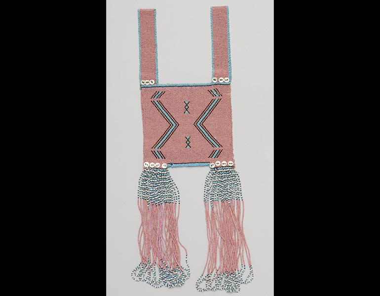 Vest, 1800s–1900s. South Africa, Mfengu people. Glass beads, buttons, cotton thread; 59.7 cm x 21.6 cm. Private Collection. Photo: © James Worrell