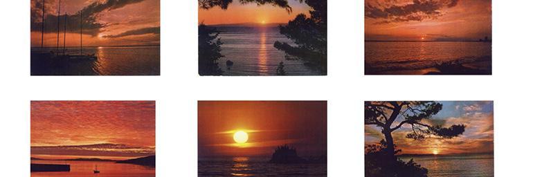 Sunset (detail), mid-1970s. Hans-Peter Feldmann (German, b. 1941). Color Xeroxes; 105.4 x 121.9 cm (overall). © Hans-Peter Feldmann, courtesy 303 Gallery, New York. HPF 131.