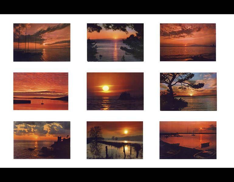 Sunset, mid-1970s. Hans-Peter Feldmann (German, b. 1941). Color Xeroxes; 105.4 x 121.9 cm (overall). © Hans-Peter Feldmann, courtesy 303 Gallery, New York. HPF 131.