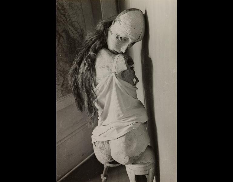 The Doll (La Poupée), 1936. Hans Bellmer (German, 1902–1975). Gelatin silver print; 11.7 x 7.8 cm. The Cleveland Museum of Art,  John L. Severance Fund 2007.27 © 2013 Artists Rights Society (ARS), New York / ADAGP, Paris