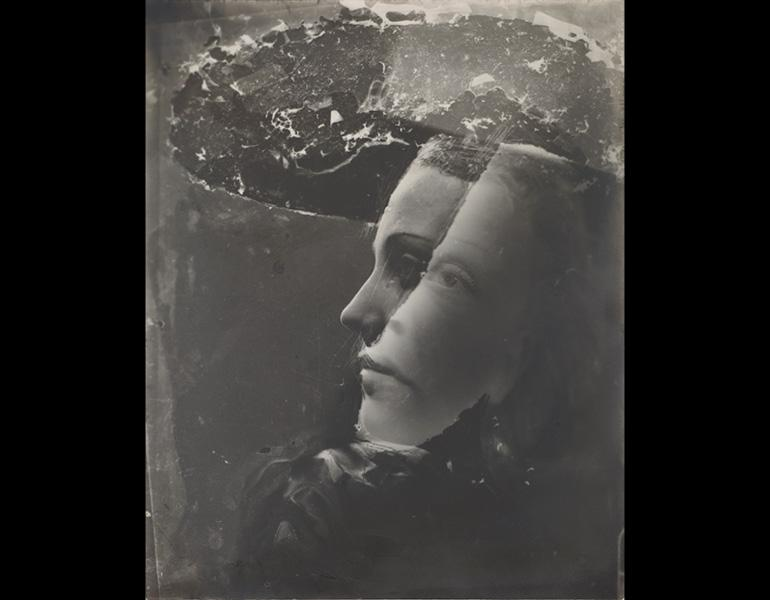 Double Portrait with Hat, c. 1936–37. Dora Maar (French, 1907–1997). Gelatin silver print, montage, from negatives with handwork; 29.7 x 23.8 cm. The Cleveland Museum of Art, Gift of David Raymond 2008.172. © 2013 Artists Rights Society (ARS), New York/AD