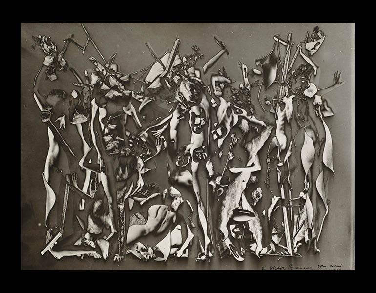 The Battle of the Penthesilea (Le Combat des Penthésiliées), 1937. Raoul Ubac (Belgian, 1910–1985). Gelatin silver print; 16.9 x 22.8 cm. The Cleveland Museum of Art, John L. Severance Fund 2007.154. © 2013 Artists Rights Society (ARS), New York / ADAGP,