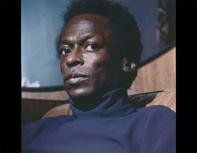 Miles Davis, 1969. Lee Friedlander (American, born 1934). Ink jet print; 37 x 36.8 cm. The Museum of Modern Art, New York, Purchase. © 2009 Lee Friedlander