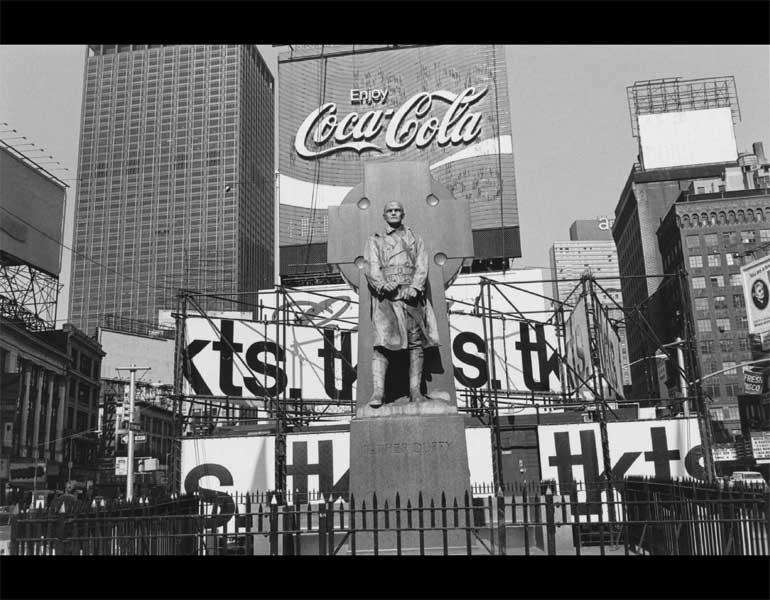 Father Duffy. Times Square, New York City, 1974. Lee Friedlander (American, born 1934). Gelatin silver print; 19.1 x 28.5 cm. The Museum of Modern Art, New York, Purchase. © 2009 Lee Friedlander