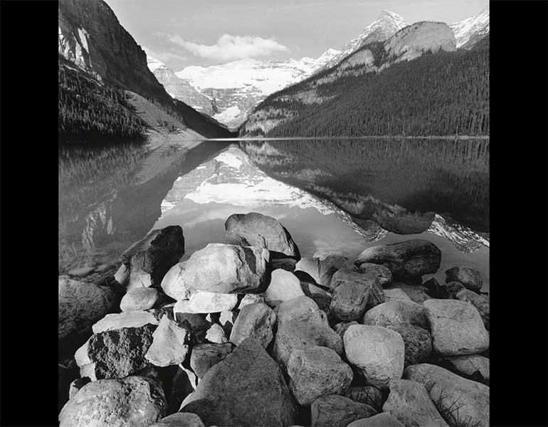 Lake Louise, Canada, 2000. Lee Friedlander (American, born 1934). Gelatin silver print; 47.6 x 47.2 cm. The Museum of Modern Art, New York, Gift of the photographer. © 2009 Lee Friedlander