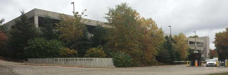 The museum's parking garage is accessible from Jeptha Drive.