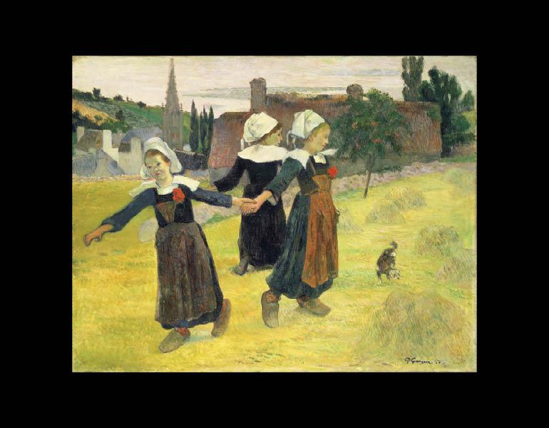 Breton Girls Dancing, Pont-Aven (La Ronde des Petites Bretonnes), 1888. Paul Gauguin (French, 1848–1903). Oil on canvas; 73 x 92.7 cm. National Gallery of Art, Washington, Collection of Mr. and Mrs. Paul Mellon 1983.1.19. Image courtesy the Board of Trustees, National Gallery of Art, Washington