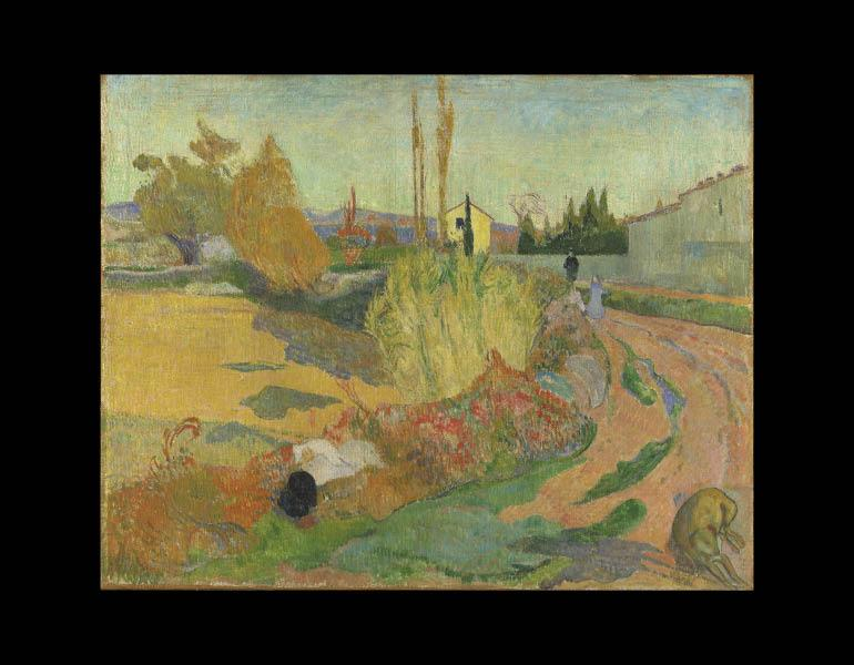 Landscape from Arles (Près d'Arles), 1888. Paul Gauguin (French, 1848–1903). Oil on canvas; 72.5 x 92 cm. Nationalmuseum, Stockholm NM 1735. © The National Museum of Fine Arts, Stockholm