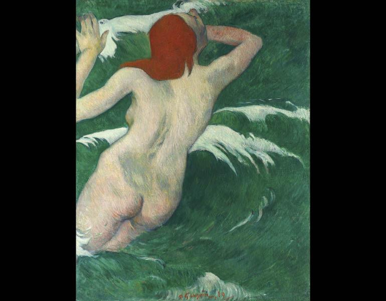 In the Waves (Dans les Vagues), 1889. Paul Gauguin (French, 1848–1903). Oil on canvas; 92 x 72 cm. The Cleveland Museum of Art, Gift of Mr. and Mrs. William Powell Jones 1978.63 © The Cleveland Museum of Art