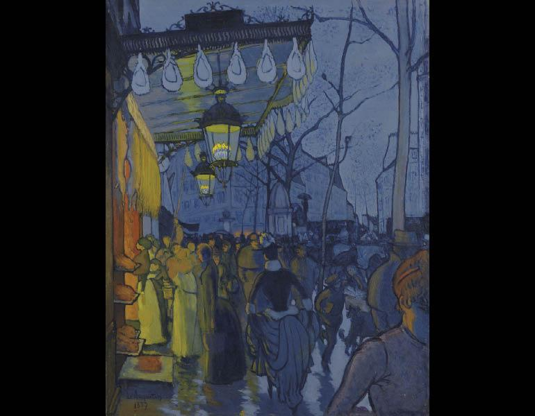 Avenue de Clichy, 1887. Louis Anquetin (French, 1861–1932). Oil on canvas; 69 x 53 cm. Wadsworth Atheneum Museum of Art, Hartford, The Ella Gallup Sumner and Mary Catlin Sumner Collection Fund 1966.7. © Wadsworth Atheneum Museum of Art, Hartford, CT. The Ella Gallup Sumner and Mary Catlin Sumner Collection Fund