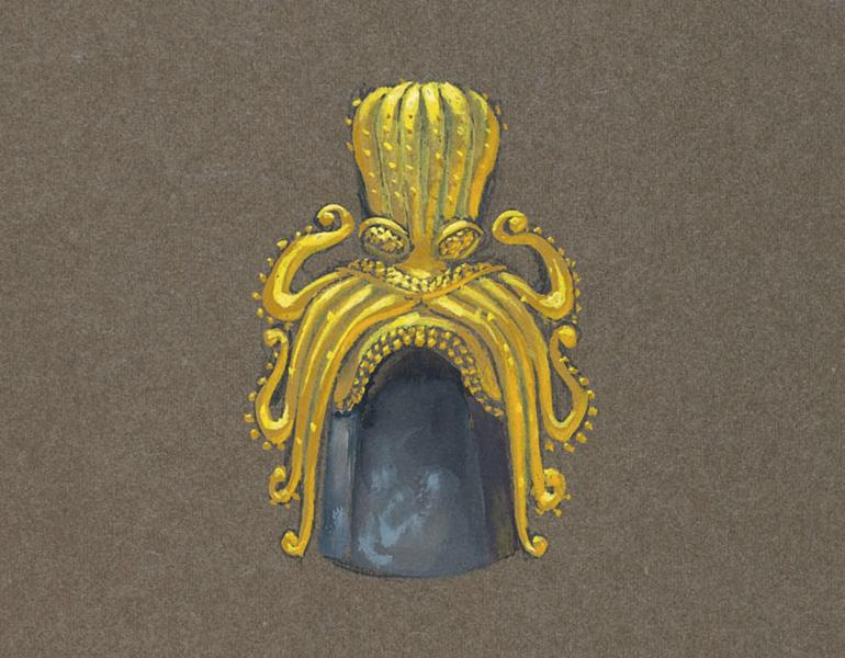 Rendering of brooch from the John Paul Miller collection