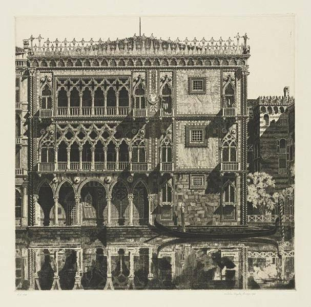 Venetian Filigree, 1931. John Taylor Arms (American, 1887–1953). Etching; 27.0 x 27.6 cm. Lawrence Hitchcock Fund 1977.185
