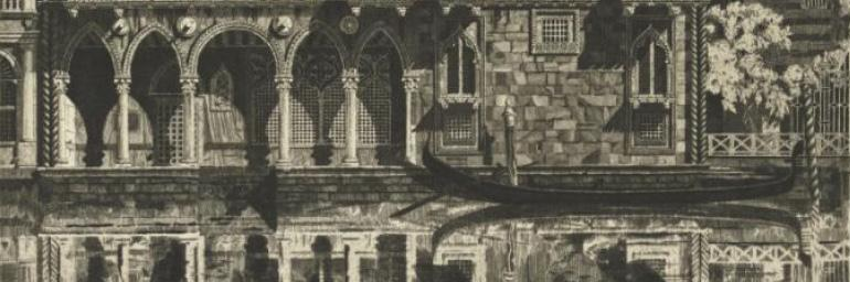 Venetian Filigree (detail), 1931. John Taylor Arms (American, 1887–1953). Etching; 27.0 x 27.6 cm. Lawrence Hitchcock Fund 1977.185