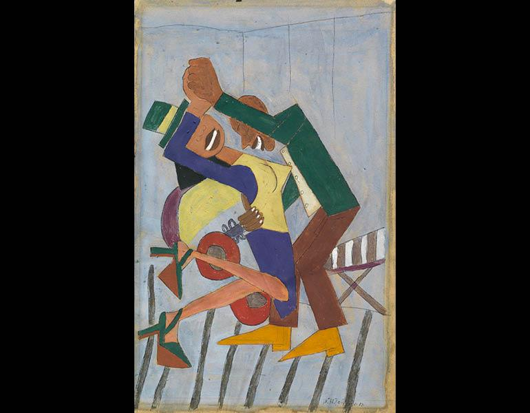 Jitterbugs, c. 1941. William H. Johnson (American, 1901–1970). Tempera (gouache); 54.3 x 40.6 cm. Courtesy Morgan State University